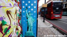 Großbritannien Trump Graffiti in London