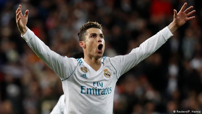 Champions League Real Madrid vs Juventus Turin   Jubel Ronaldo