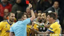 Champions League Real Madrid vs Juventus Turin   Rote Karte Buffon