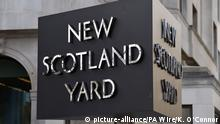 """03.02.2017 Anti-semitism in Labour. File photo dated 3/2/2017 of the New Scotland Yard sign. A group of peers has called on Scotland Yard to investigate online anti-Semitic abuse by supporters of Jeremy Corbyn. Issue date: Thursday April 5, 2018. The cross-party letter to Metropolitan Police Commissioner Cressida Dick highlights """"unambiguous"""" examples of hate speech on Facebook groups set up to back the Labour leader. See PA story POLITICS Labour. Photo credit should read: Kirsty O'Connor/PA Wire URN:35843804  """