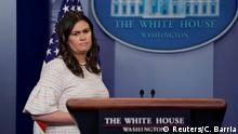 USA Washington Pressekonferenz Sarah Huckabee Sanders (Reuters/C. Barria)