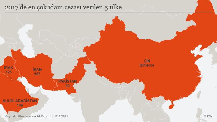 Infografik Karte Top 5 Länder Hinrichtungen TUR