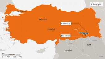 Karte Infografik Ilisu Staudamm Türkei TUR