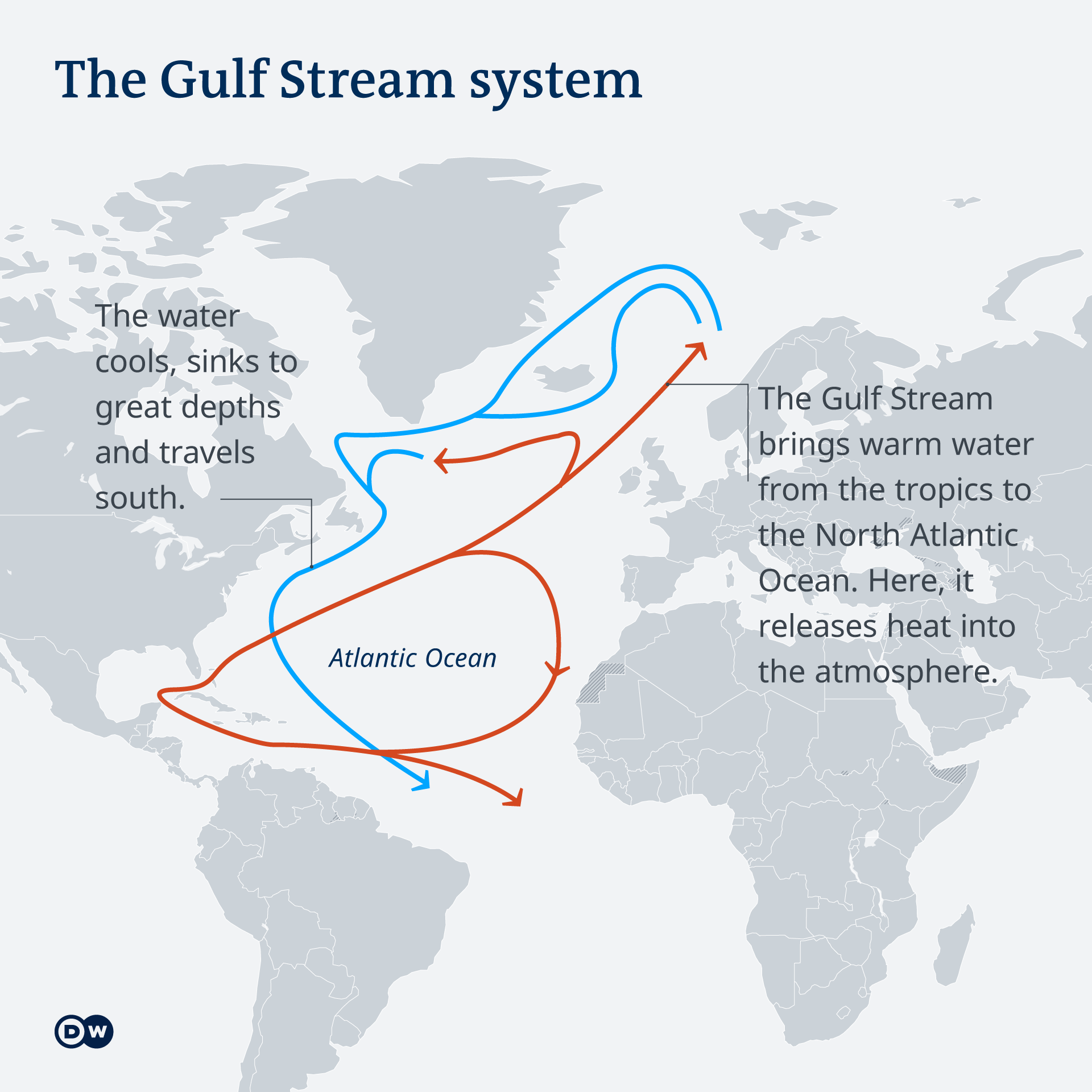 Infographic of the Gulf Stream system