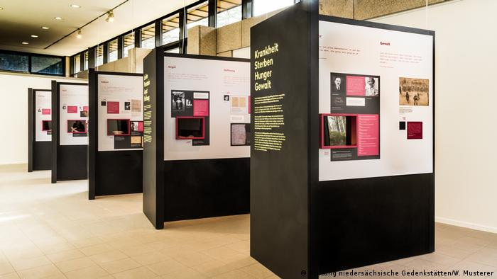 Information panels in the exhibition 'Children in the Concentration Camp Bergen-Belsen' (Stiftung niedersächsische Gedenkstätten/W. Musterer)