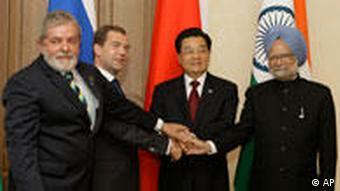 BRIC Gipfel in Russland