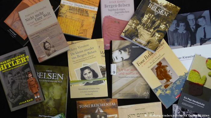 A selection of auto-biographies of child survivors in the concentration camp Bergen-Belsen, 2018 ( Stiftung niedersächsische Gedenkstätten)