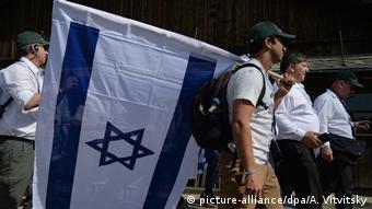Man with Israeli flag