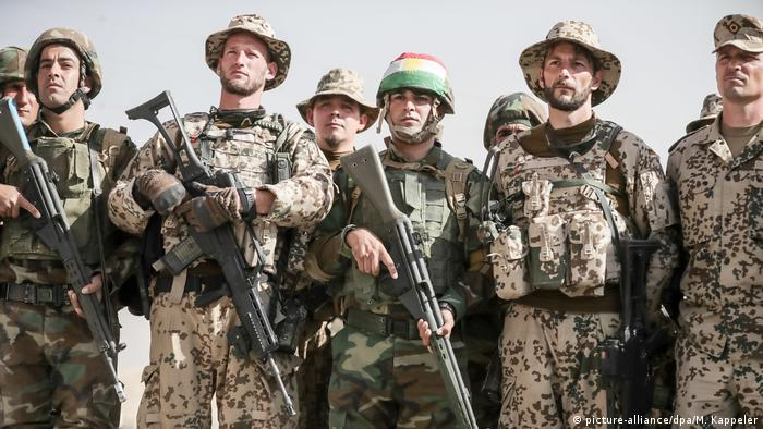 German troops trained local fighters as part of the anti-IS coalition