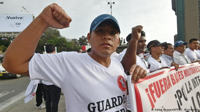 Lima Americas Gipfel Proteste (Getty Images/AFP//C. Bouroncle)