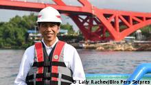 Indonesien Präsident Joko Widodo Besuch in Papua
