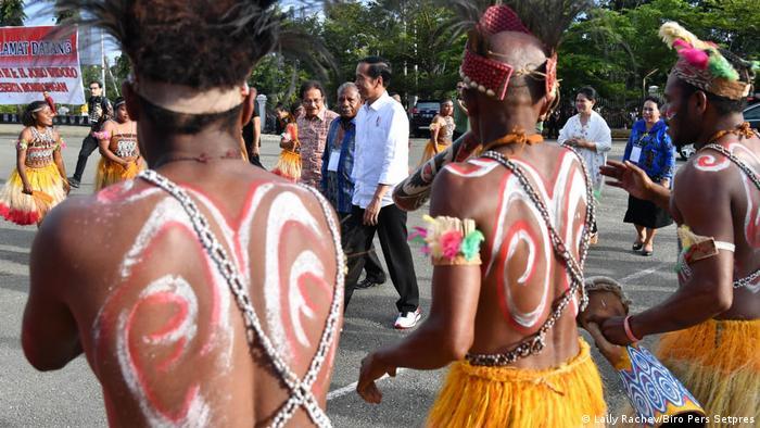 Presiden Joko Widodo saat berkunjung ke Papua