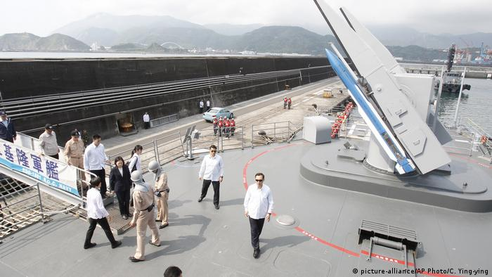 President Tsai Ing-wen during 2018 naval exercises northeast of Taiwan