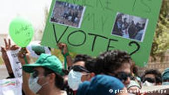 Demonstrationen in Dubai zur Iran Wahl 2009