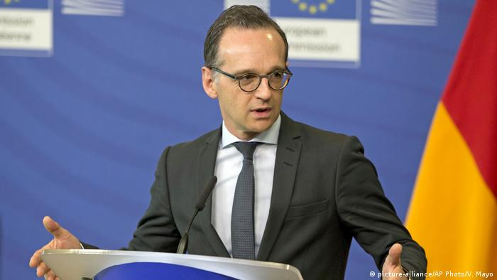 Heiko Maas in Brüssel (picture-alliance/AP Photo/V. Mayo)