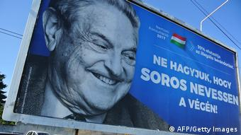 Anti-Soros poster in Hungary (AFP/Getty Images)