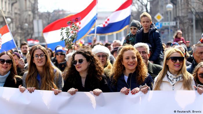 Protesters in Zagreb