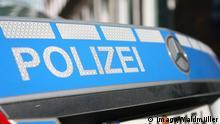 Schriftzug Polizei auf einem Mercedes in Hamburg 08.10.2017 *** emblem Police on a Mercedes in Hamburg 08 10 2017