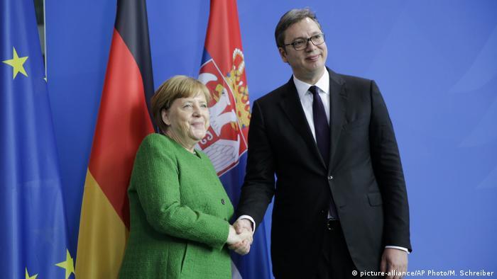 Berlin Angela Merkel empfängt Aleksandar Vucic