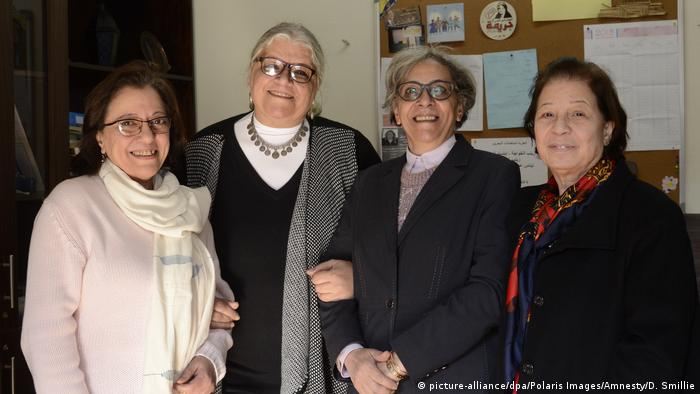 Co-founders of the Nadeem Center (from left): Mona Hamed, Aida Seif el Dawla, Magda Adly und Susan Fayyad