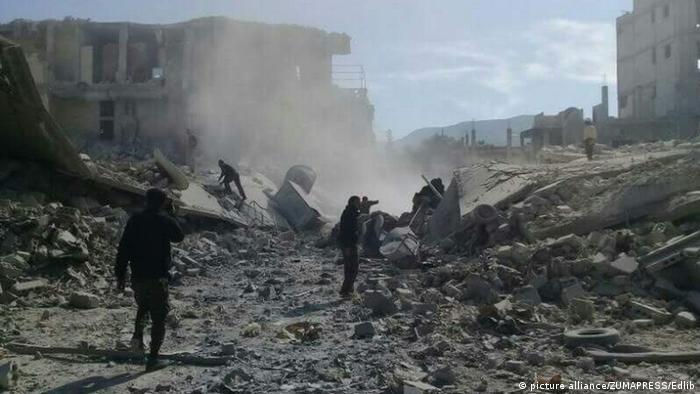 La ville de Douma après une attaque en Syrie en 2017