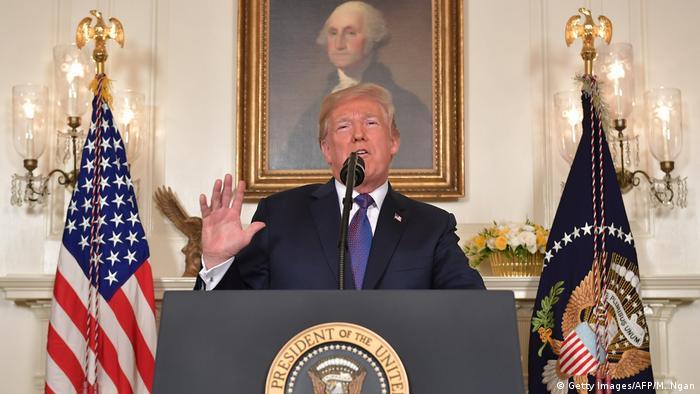 USA - Trump ordnet Militärschlag auf Syrien an (Getty Images/AFP/M. Ngan)
