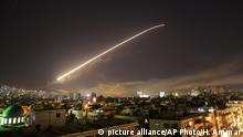 Syria - US airstrikes against Damascus (picture alliance/AP Photo/H. Ammar)