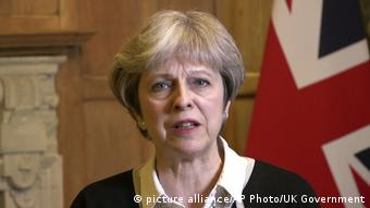 Syrien - Militärschlag - Theresa May (picture alliance/AP Photo/UK Government)