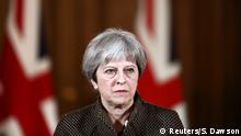 London Pressekonferenz Theresa May zur Militäraktion in Syrien