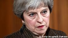 London Pressekonferenz Theresa May zur Militäraktion in Syrien