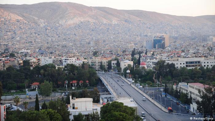 شهر دمشق در روز حمله هوایی