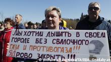 Proteste gegen Mülldeponie in Wolokolamsk