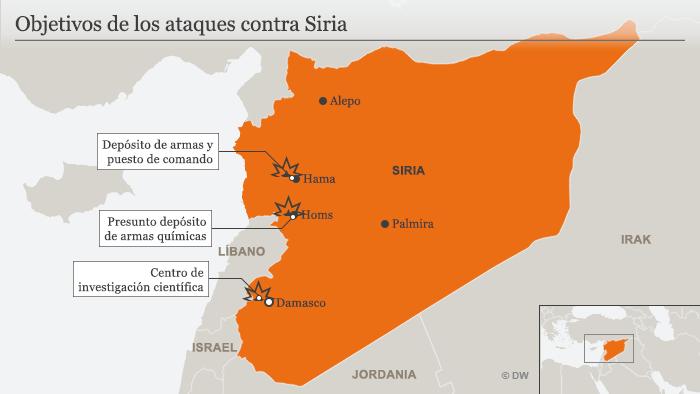 Infografik Karte Luftangriffe auf Syrien SPA