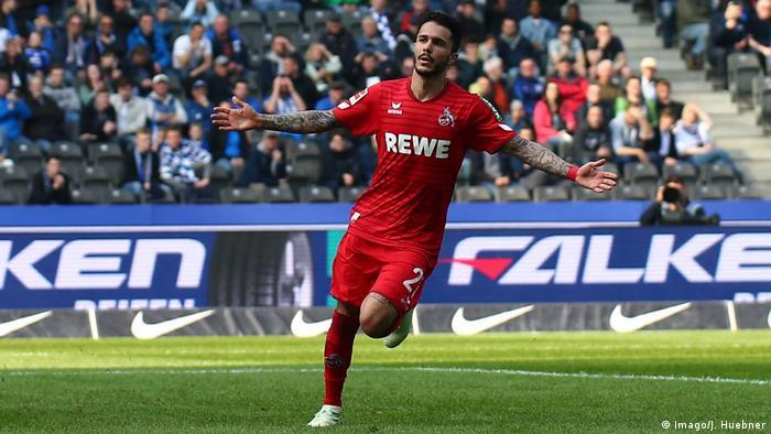 Fussball Bundesliga 30.Spieltag – Hertha Berlin vs Köln 0:1 Tor (Imago/J. Huebner)