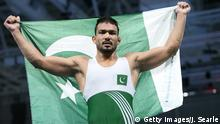 Wrestling - Commonwealth Gold - Muhammad Inam aus Pakistan
