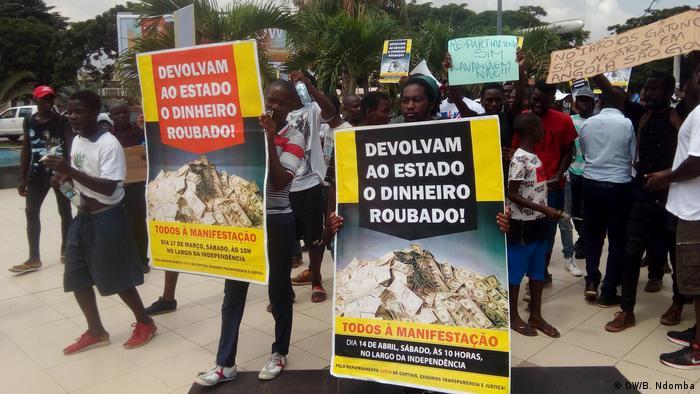 Angola Luanda | Protest gegen Rückführung von Kapital