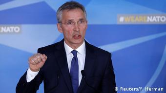 Belgien NATO - Stoltenberg zu den Militärschlag auf Syrien