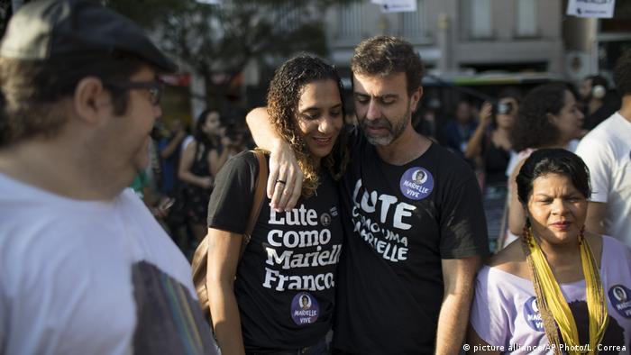 Anielle Franco e o deputado Marcelo Freixo