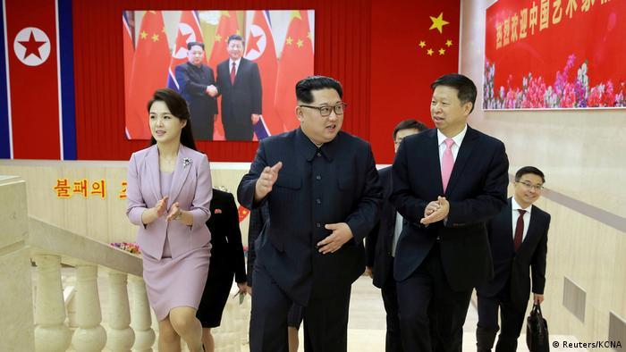 Nordkorea Kim Jong-un trifft chinesische Delegation (Reuters/KCNA)