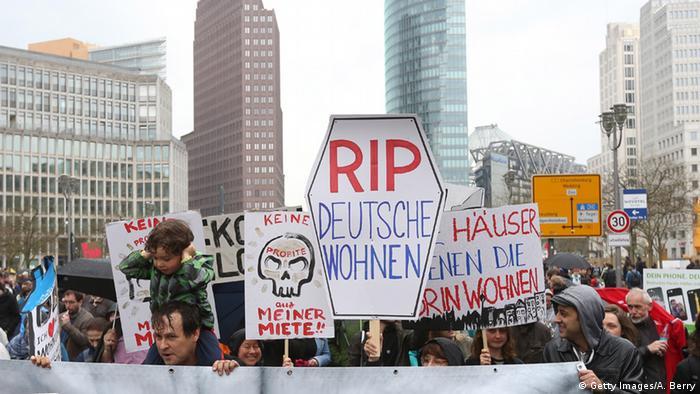 BdT Berlin Proteste gegen steigende Mieten (Getty Images/A. Berry)