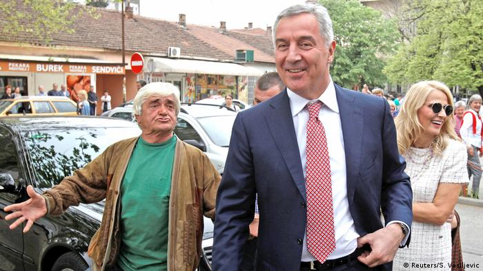 Milo Djukanovic at the polling booth