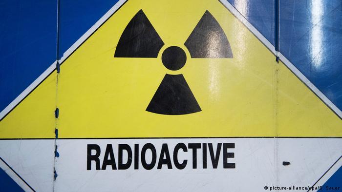 Бочка с надписью Радиоактивно