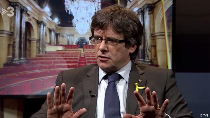 Screenshot TV3 - Interview mit Carles Puigdemont (TV3)