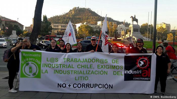 Chile Lithium Abbau Anti Soquimich Protest