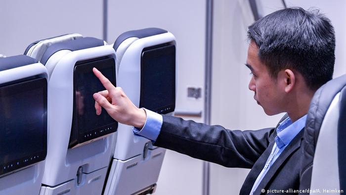 Развлечения на борту самолета