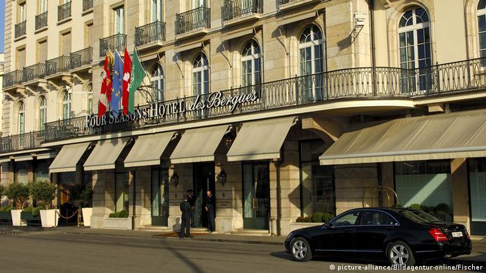 Schweiz Genf Nobelhotel Four Seasons Hotel des Bergues