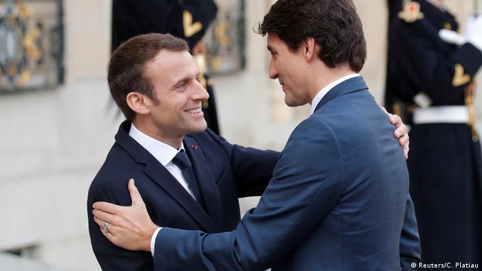 Frankreich Macron und Trudeau sind Freunde