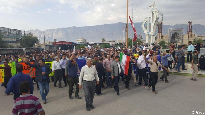 Iran Proteste in Kazeroun