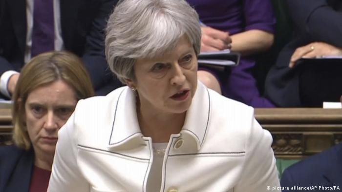 UK Theresa May im Unterhaus