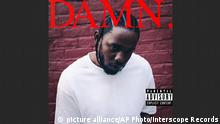 This cover image released by Interscope Records shows Damn. by Kendrick Lamar. On Monday, April 16, 2018, Lamar won the Pulitzer Prize for music for his album. (Interscope Records via AP)  